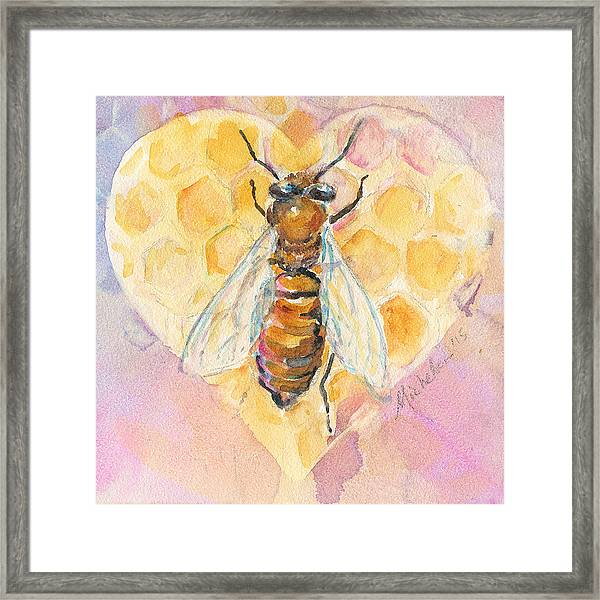 Bee Heart Framed Print