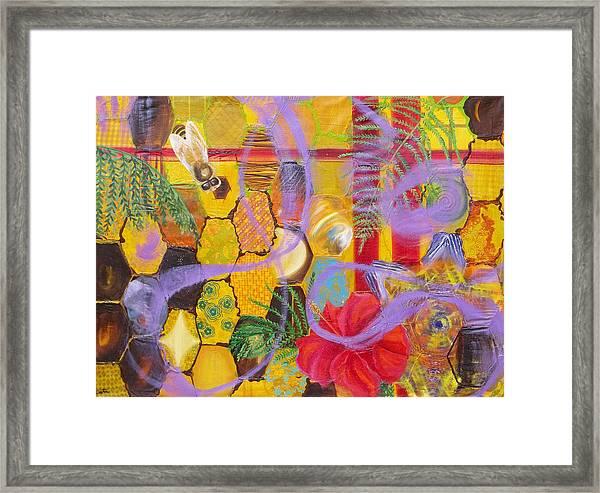 Beehive Oil Painting Framed Print