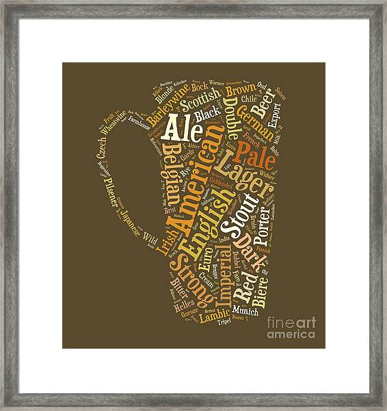 Framed Print featuring the digital art Beer Lovers Tee by Edward Fielding