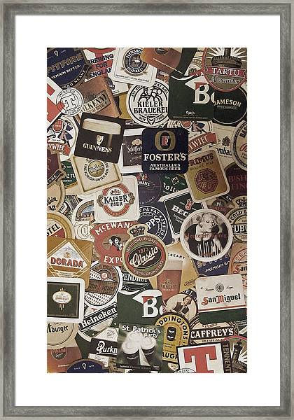 Beers Of The World Framed Print