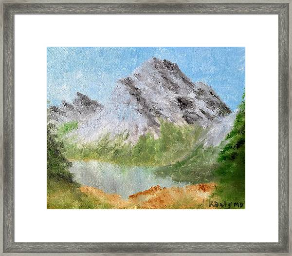 Framed Print featuring the painting Bee's Eyed View by Kevin Daly
