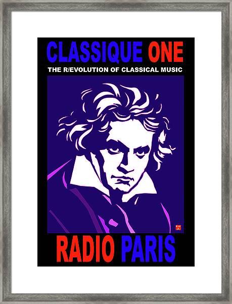 Beethoven Classique One Radio Paris  Framed Print
