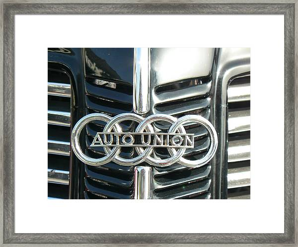 Before Audi Was Audi Framed Print