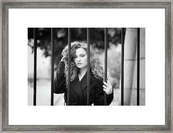 Behind Bars, Paris Framed Print