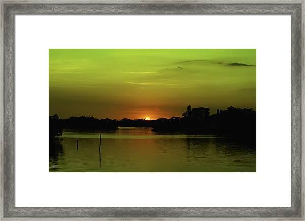 Behind The Horizon Framed Print