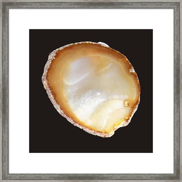 Beige Geode Framed Print