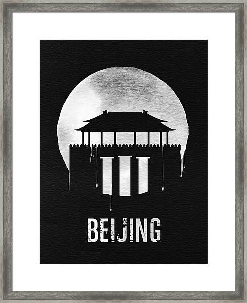 Beijing Landmark Black Framed Print