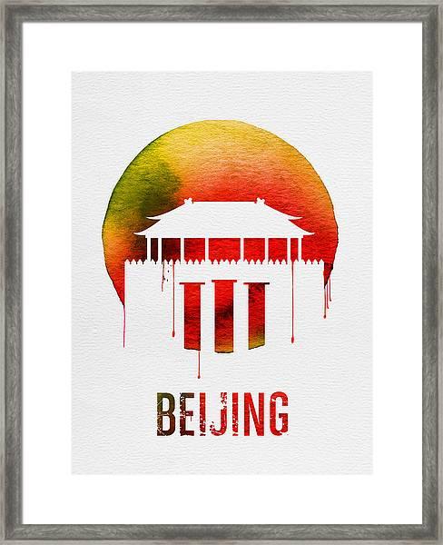 Beijing Landmark Red Framed Print