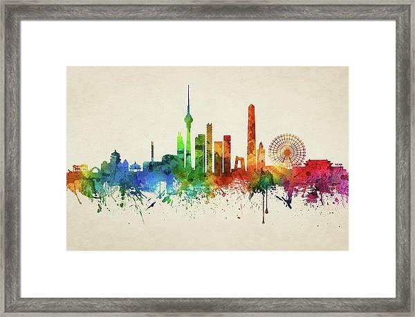 Beijing Skyline Chbj05 Framed Print