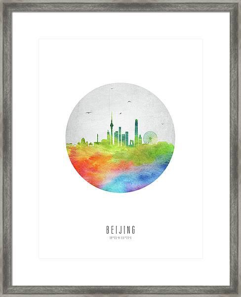 Beijing Skyline Chbj20 Framed Print