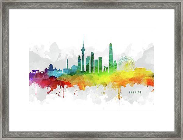 Beijing Skyline Mmr-chbj05 Framed Print