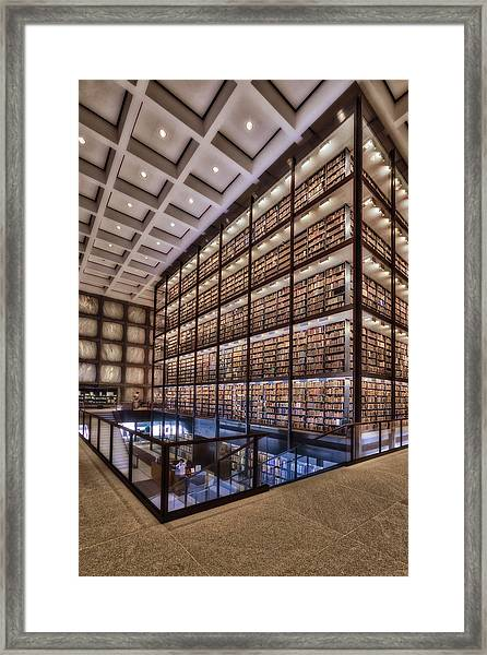 Framed Print featuring the photograph Beinecke Rare Book And Manuscript Library by Susan Candelario