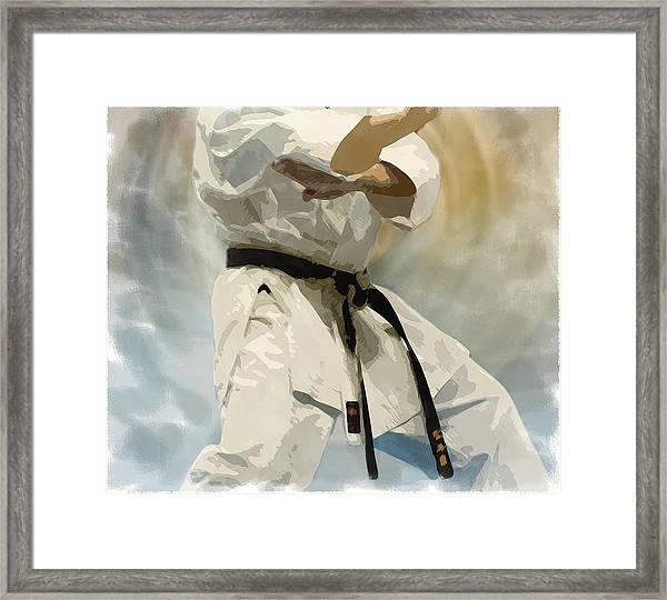 Being A Black Belt Framed Print