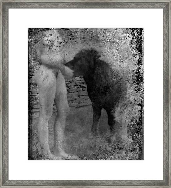 Belfast Nude With Mininature  Framed Print