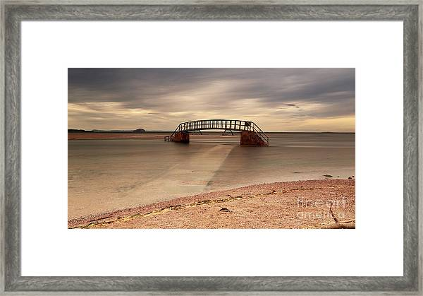Belhaven Stairs And The Bass Framed Print