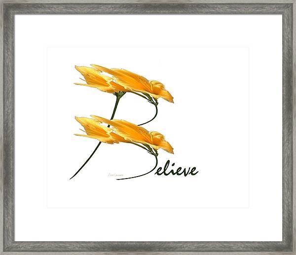 Believe Shirt Framed Print