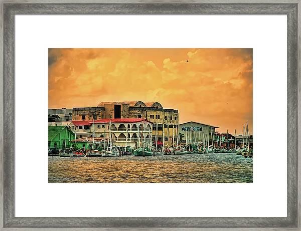 Belize City Harbor Framed Print