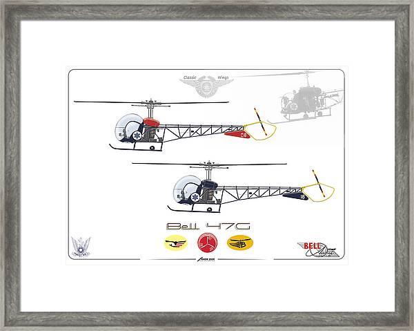 Bell 47g Framed Print