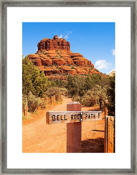 Bell Rock Path In Sedona Arizona Framed Print by Susan Schmitz
