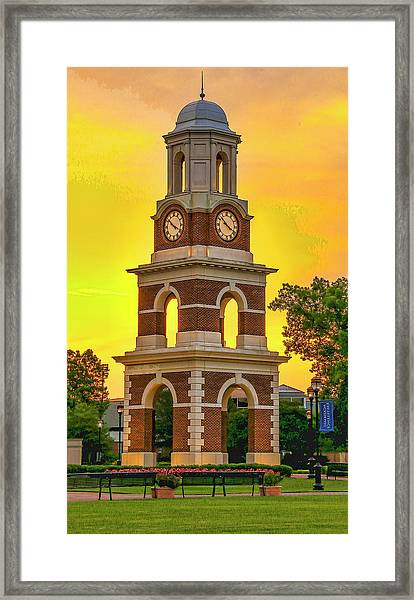 Bell Tower At Christopher Newport University C N U Framed Print