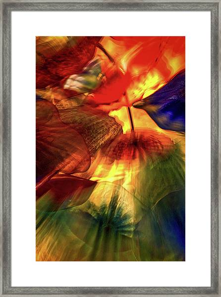 Bellagio Ceiling Sculpture Abstract Framed Print