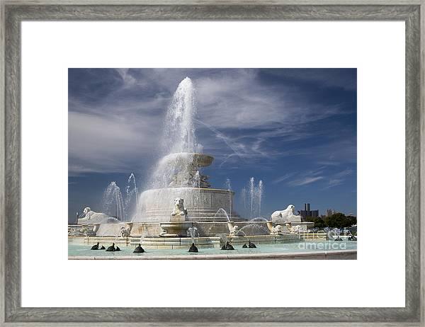 Belle Isle Scott Fountain Framed Print