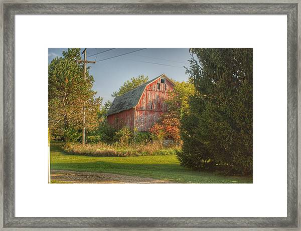 0028 - Belle River Red I Framed Print