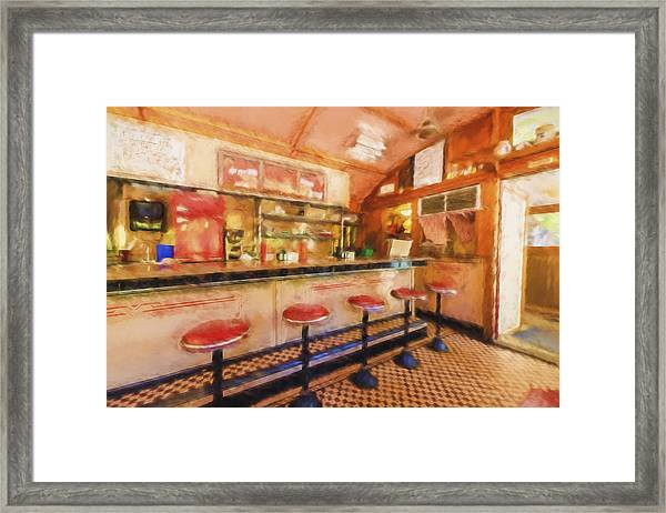 Bellows Falls Diner Framed Print