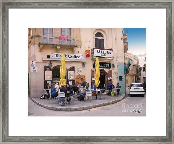 Bellusa Cafe No. 1 Framed Print by Sascha Meyer
