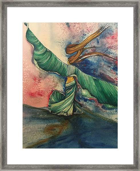Belly Dancer With Wings  Framed Print