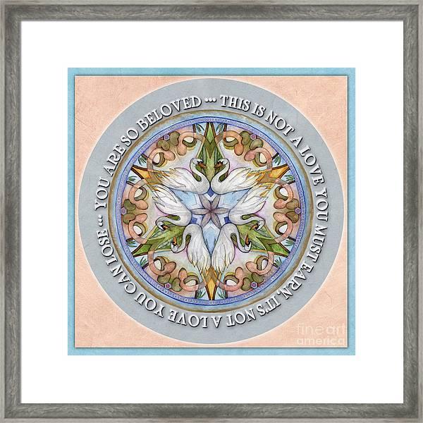 Beloved Mandala Prayer Framed Print