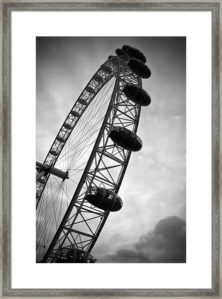 Below London's Eye Bw Framed Print