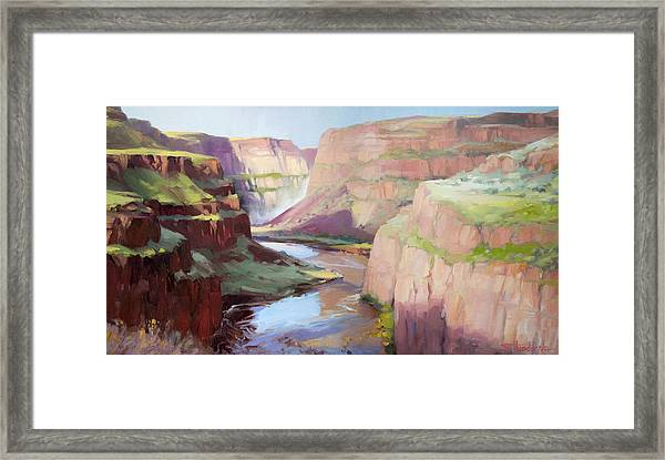 Below Palouse Falls Framed Print