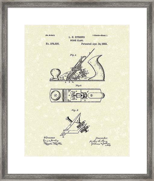 Bench Plane 1883 Patent Art Framed Print