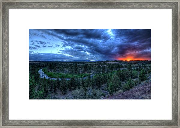 Bend Sleeps Framed Print