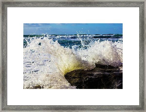 Wave Bending Backwards Framed Print