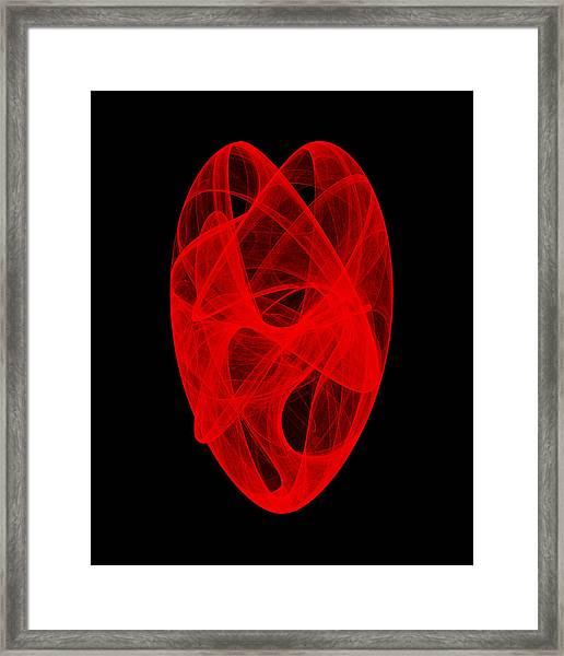 Bends Unraveling IIi Framed Print