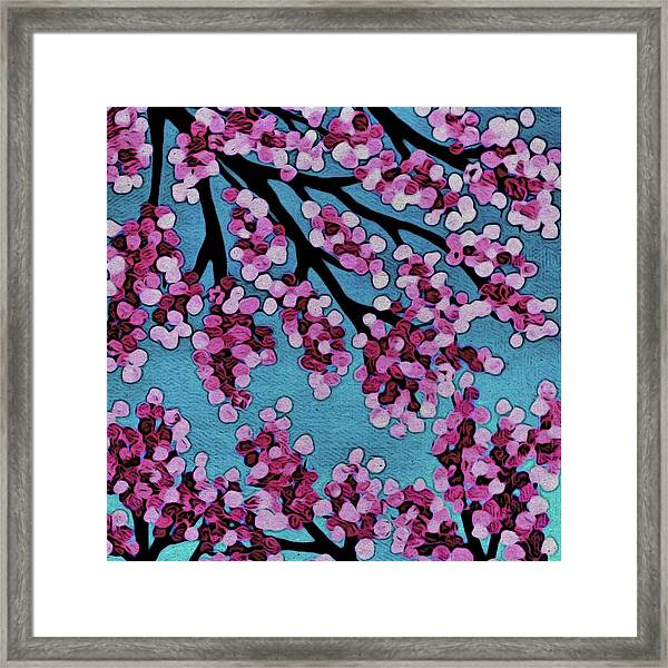 Beneath The Cherry Framed Print
