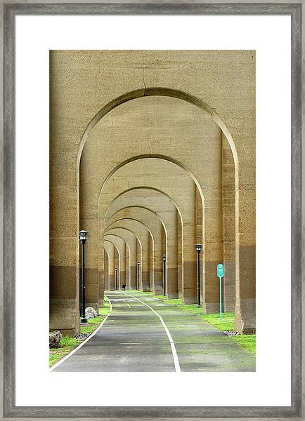 Beneath The Hellgate Framed Print