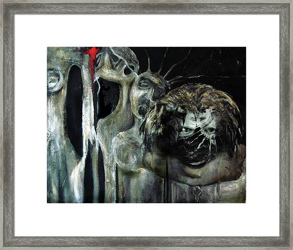 Beneath The Mask Framed Print
