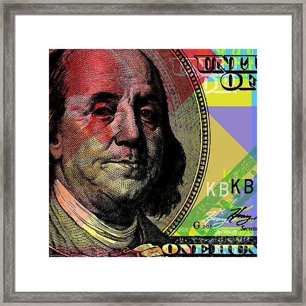 Benjamin Franklin - $100 Bill Framed Print