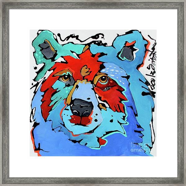Benjamin The Bear Framed Print