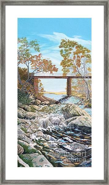 Bennington Riverbed Framed Print