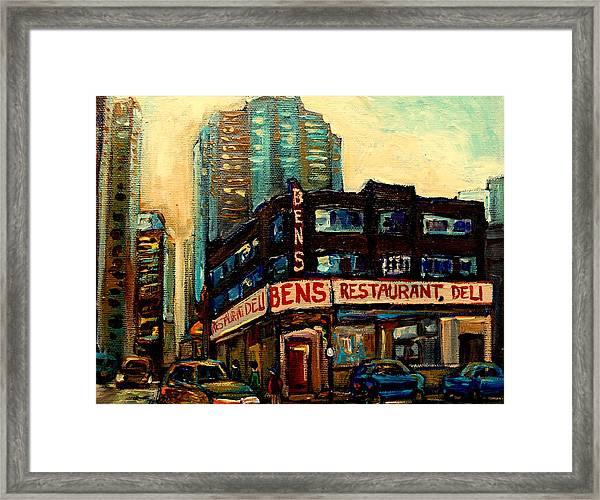 Bens Restaurant Deli Framed Print