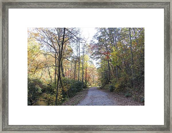 Bent Creek Road Framed Print
