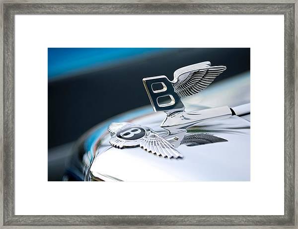 Bentley Hood Ornament Framed Print