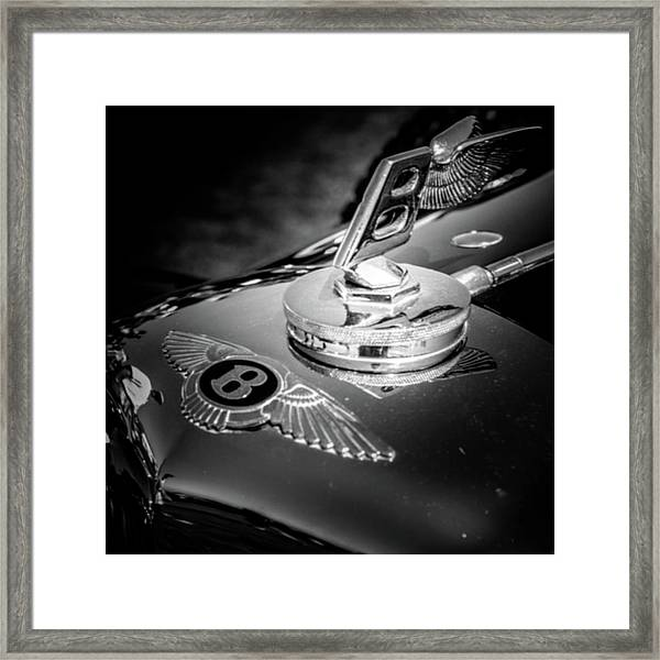 Bentley Hood Ornament Framed Print