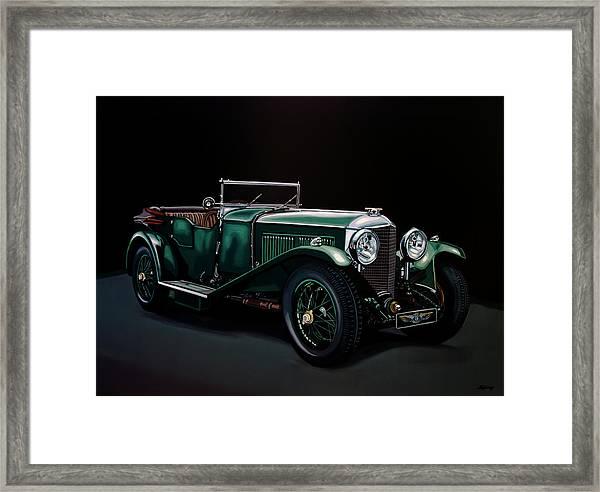 Bentley Open Tourer 1929 Painting Framed Print