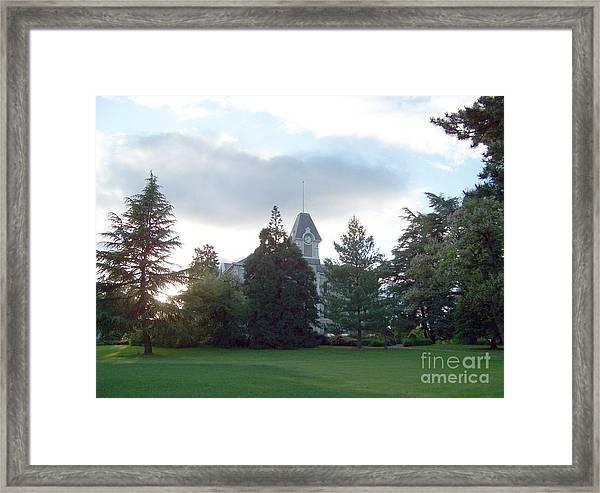 Benton Hall At Oregon State Framed Print