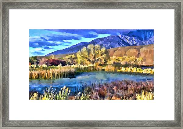 Benton Pond Framed Print